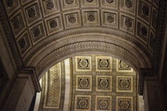 Arc detail, Arc de Triomphe, Paris, December. Arc de Triomphe, Paris, Champs-Élysées, arc detail Stock Photo