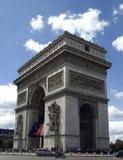Arc deTriumph. Arc de Triumph with flags Stock Photos