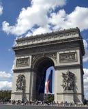 Arc deTriumph. Arc de Triumph with flags Royalty Free Stock Photography