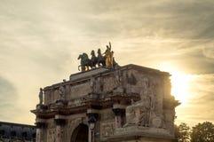 Arc du Carrousel ορόσημο στο Παρίσι Στοκ Φωτογραφία