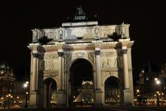 Arc du Triomphe du Carroussel, Louvre, Paris. The Arc du Triomphe du Carroussel close to the Louvre, Paris, France Stock Images