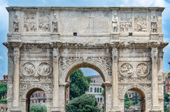 The Arc of Emperor Constantine. Roman Forum, Rome, Italy Royalty Free Stock Images