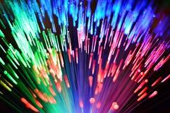 Arc-en-ciel à fibres optiques multicolore 2 Photos libres de droits