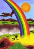 Arc-en-ciel étonnant (2012) illustration libre de droits