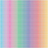 Arc-en-ciel abstrait Dots Pattern Background quadratique carré coloré illustration stock