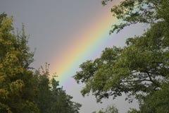 Arc-en-ciel après la pluie un autre beau jour image libre de droits