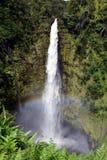 Arc-en-ciel aux automnes d'Akaka, Hawaï Photographie stock