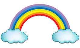 Arc-en-ciel avec le nuage illustration libre de droits