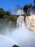 Arc-en-ciel chez Iguazu Image libre de droits