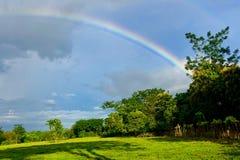 Arc-en-ciel en Costa Rican Rainforest photographie stock
