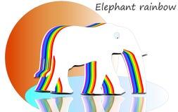 Arc-en-ciel d'éléphant Images libres de droits