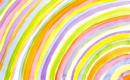 Arc-en-ciel d'aquarelle Image libre de droits
