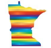 Arc-en-ciel d'homosexuel du Minnesota Image libre de droits