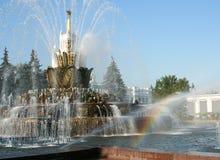 Arc-en-ciel dans la fontaine Images libres de droits