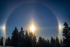 Arc-en-ciel dans la lumière de lune Images stock