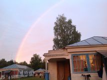 Arc-en-ciel dans le Meshchera Photo libre de droits