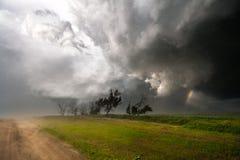 Arc-en-ciel dans une tempête Photos stock