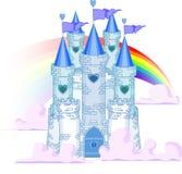 arc-en-ciel de château illustration de vecteur