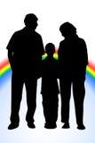 Arc-en-ciel de famille illustration de vecteur