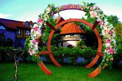 Arc-en-ciel de fleur pendant des vacances en plein air Images libres de droits