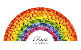 Arc-en-ciel de fruit Photographie stock libre de droits
