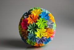 Arc-en-ciel de kusudama d'Origami Image libre de droits