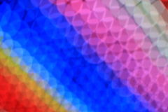 Arc-en-ciel de lumière de la tache floue LED d'abrégé sur art coloré Image stock