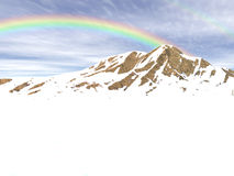 Arc-en-ciel de neige Photo libre de droits