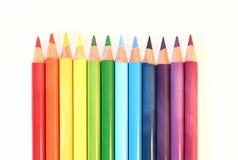 Arc-en-ciel de pancil de couleur Images stock
