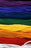 Arc-en-ciel de soie - instruction-macro Image libre de droits