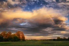 Arc-en-ciel de soirée Image libre de droits