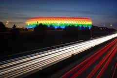 Arc-en-ciel de stade de Munich coloré pour CDD 2016 Image libre de droits