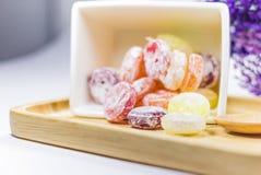 Arc-en-ciel de sucrerie de couleur Images libres de droits