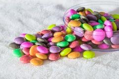 Arc-en-ciel de sucrerie de gelée coloré Images libres de droits
