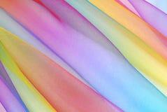 Arc-en-ciel de tissu d'organza photos libres de droits