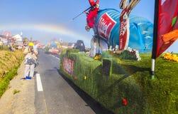 Arc-en-ciel de Tour de France Image stock