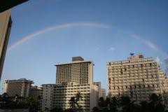 Arc-en-ciel de Waikiki Photographie stock libre de droits