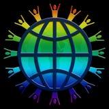 Arc-en-ciel de World Wide Web Image stock