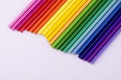 Arc-en-ciel des crayons Photo libre de droits