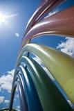 Arc-en-ciel en métal Photos libres de droits