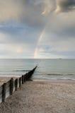 Arc-en-ciel en mer Image libre de droits