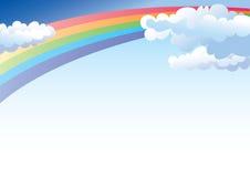 Arc-en-ciel et ciel Photo stock