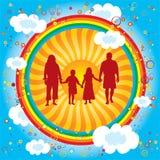 Arc-en-ciel-famille Photos libres de droits