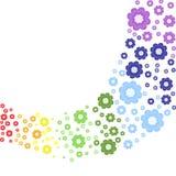 Arc-en-ciel floral Images libres de droits