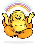 Arc-en-ciel heureux de Bouddha Images libres de droits