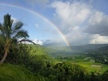 Arc-en-ciel Kauai de Hanalei image stock