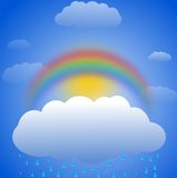 Arc-en-ciel - l'illustration des enfants Image stock