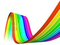 Arc-en-ciel multicolore d'opacité Image stock