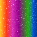 Arc-en-ciel profond rayé Photo libre de droits
