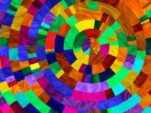 Arc-en-ciel radial Photo libre de droits